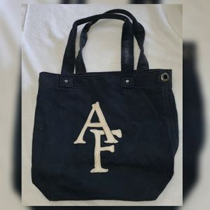 Navy Abercrombie & Fitch Classic Tote Bag